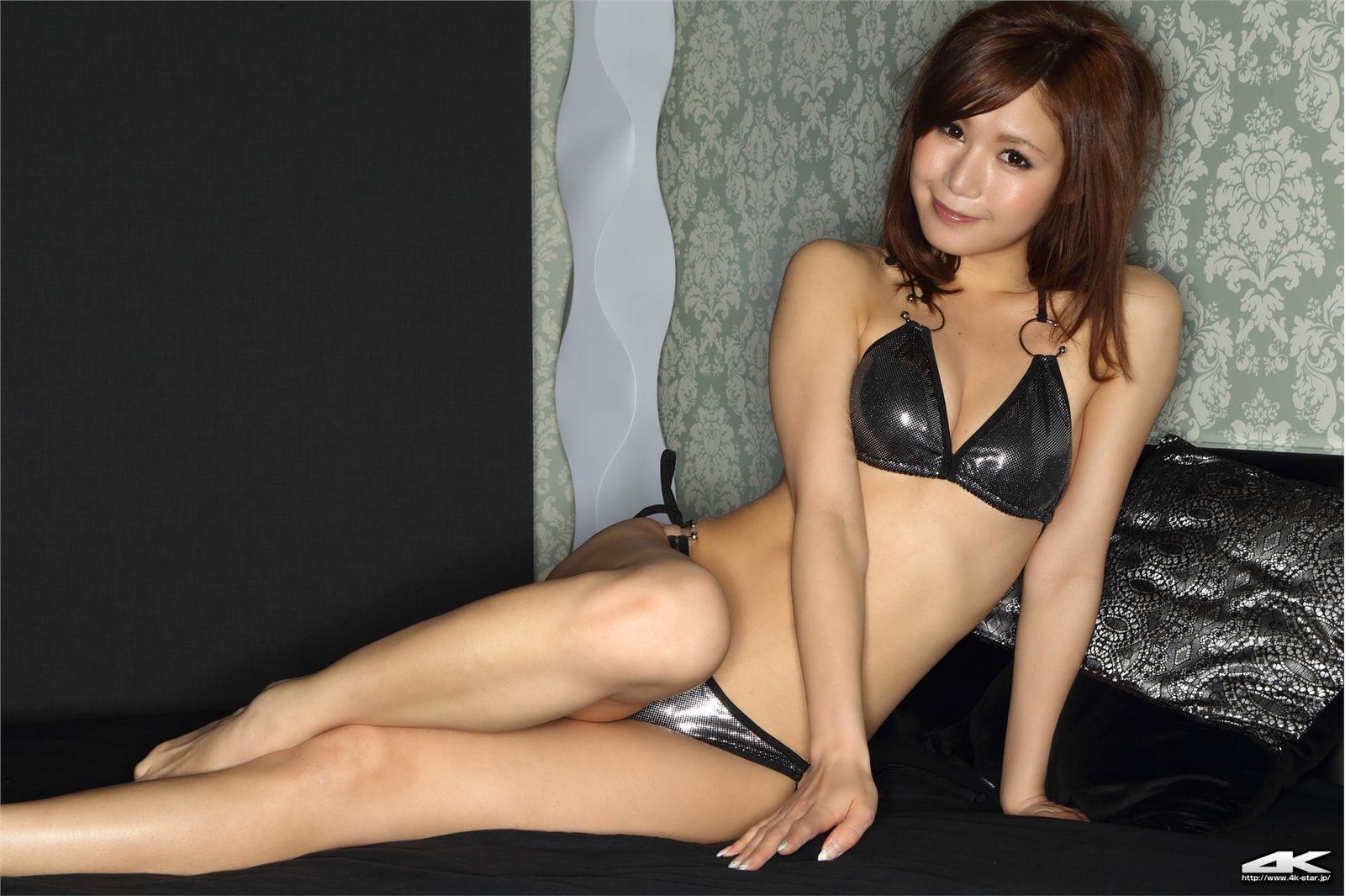 4k-star套图 NO.00012 熊乃あい 水着(ブラック)日本性感美女